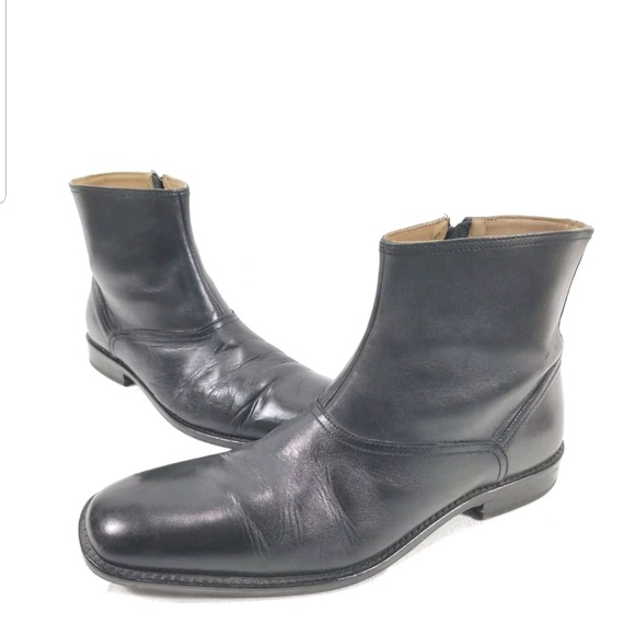 johnston and murphy black boots